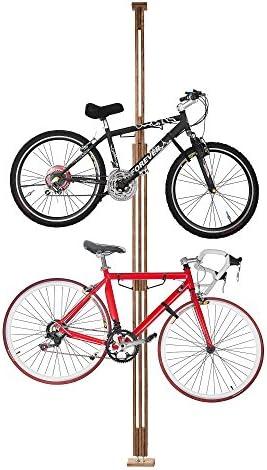 RadサイクルWoodyバイクスタンド自転車ラックストレージまたは表示Holds 2つBicycles