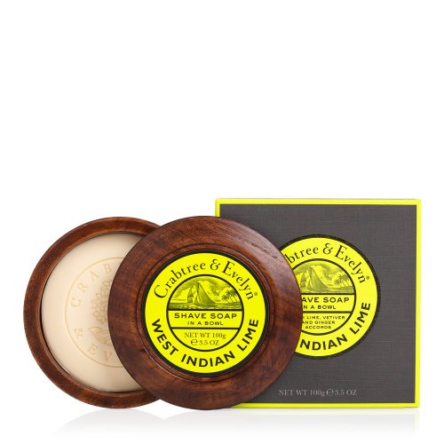 CRABTREE & EVELYN Shave Soap in a Wooden Bowl, West India...