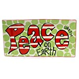Burton and Burton Peace on Earth Rectangular Ceramic Platter, 16""