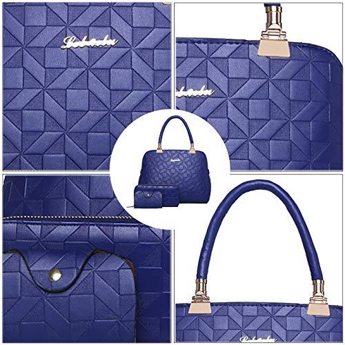 Set Coolives de Longue Bandoulière à Bleu Femme Coquillage Sac Main Lingge avec wErqEtZU