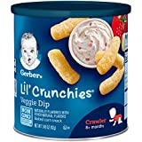 Gerber Graduates Lil' Crunchies, Veggie Dip, 1.48-Ounce Canisters (Pack of 6)
