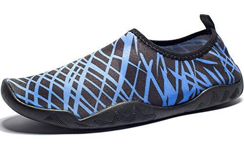 DOTACOKO Aqua Schuhe Männer Frauen Kinder Leichte Schnell Trocknende Wasserschuhe Sport Turnschuhe Für Strand Dunkelblau2