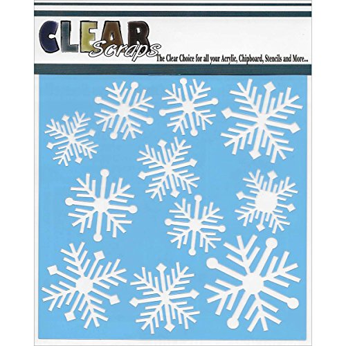 Clear Scraps CSSM6-NORFL Stencils Nordic Snowflakes, 6 by 6-Inch