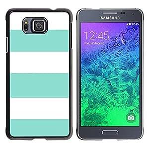 Be Good Phone Accessory // Dura Cáscara cubierta Protectora Caso Carcasa Funda de Protección para Samsung GALAXY ALPHA G850 // Teal Summer White Lines Pattern Sun