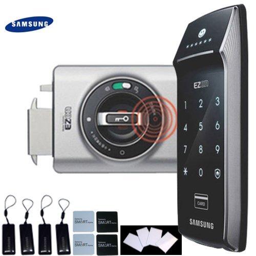 Samsung SHS-2320 Keyless Digital RIM Door Lock + 4 RFID Tags + 4 Sticky Tags + 4 RFID (Best Samsung Locks And Keys)