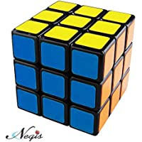 Negi 3x3 Black Cube, Multi Color