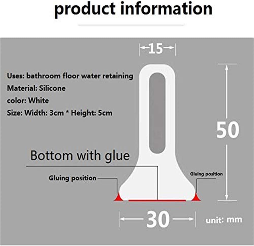 Barrera de agua de silicona para/baño/ducha/separación húmeda y seca/cocina/baño partición de agua puede doblarse 60 cm black: Amazon.es: Hogar