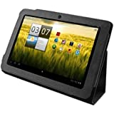 eForCity Slim PU Leather Case Cover Stand for Acer Iconia Tab A200, Black (PACEA200LC01)