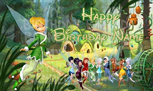 Tinker Bell Happy Birthday Party Banner Personalized/Custom ()
