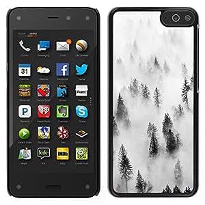 TopCaseStore / la caja del caucho duro de la cubierta de protección de la piel - Forest Fog Mist Trees Nature Inspiring - Amazon Fire Phone