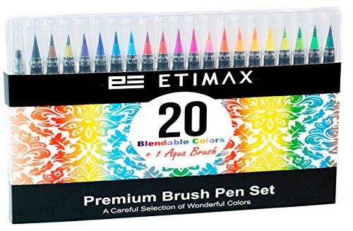 Watercolor Brush Pens Set - Real Paint Brush Ink Markers for