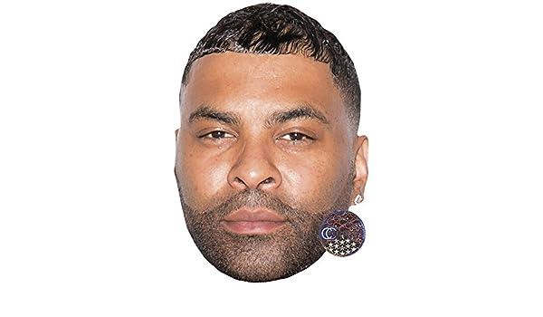 Card Face and Fancy Dress Mask Ginuwine Celebrity Mask