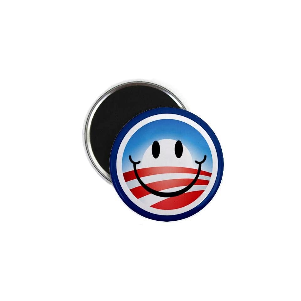 President Barack OBAMA Smiley Face Campaign Logo 2.25 inch Fridge Locker Magnet