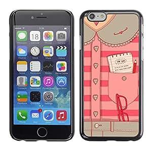Secretario Diseño de Moda Oficina Rosa - Metal de aluminio y de plástico duro Caja del teléfono - Negro - Apple (5.5 inches!!!) iPhone 6+ Plus / 6S+ Plus