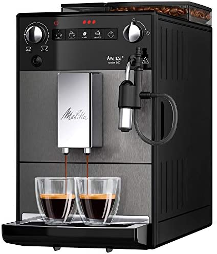 Melitta, Avanza, Noir, F270-100 Machine à Expresso Automatique avec broyeur à grain, Mousseur à lait intégré, Compacte, Silencieuse