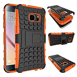 DRUnKQUEEn S7 Case, Galaxy S7 Case, Armorbox Hybrid Dual Layer Combo Full Body Heavy Duty Protection Armor Defender Protective Shock Reduction Bumper Case Holster with Kickstand for Samsung Galaxy S7