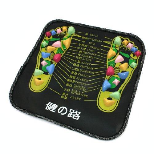 Colored-Plastic-Walk-Stone-Square-Healthy-Foot-Massage-Mat-Pad-Cushion