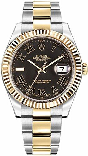Rolex Datejust II 41 116333 Dark Slate Grey Roman Numeral Dial Men's Watch