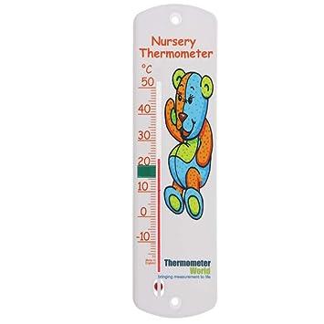 Thermomètre mural chambre d\'enfant – Bébé pour enfant Chambre à coucher  Jauge de température ambiante – Facile à suspendre