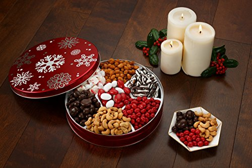 Gourmand Gifts Chocolate, Candy and Nuts Keepsake Gift Tin