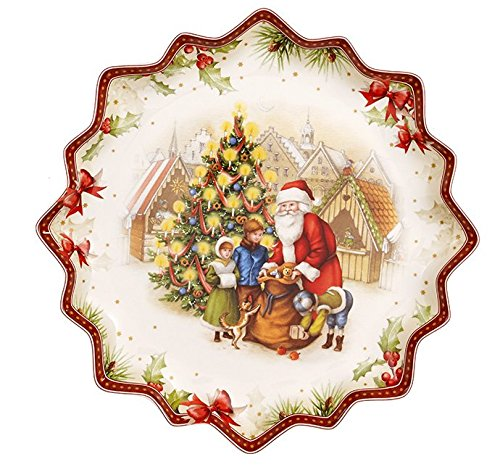 Villeroy & Boch Toy 's Fantasy Schale groß Geschenke von B., Porzellan, Rot, 25x 25x 3cm
