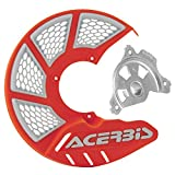 Acerbis X-Brake Vented Front Disc Cover with Mounting Kit 16 KTM Orange/White – Fits: KTM 450 EXC-F Six Days 2017–2018