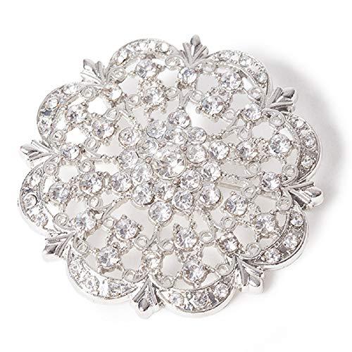 iamond Encrusted Antique Brooch - Silver ()