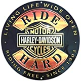 Harley-Davidson 14'' Round Sign - Ride Hard - AR2010671 Tin