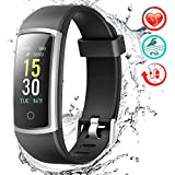 FITFORT Fitness Tracker HR Activity Tracker Watch - IP68 Water Resistant Smart Bracelet with Blood Pressure & Heart Rate Monitor, Step Counter, Calorie Counter, Pedometer Watch for Kids Women and Men
