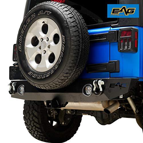 EAG Rear Bumper with LED Lights for 07-18 Jeep Wrangler JK