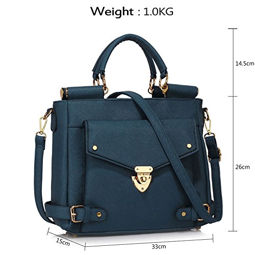 Leather Sale Satchels Faux Handle Size A LeahWard Business Clearance Meeting Handbags Large Top 237 Office navy PWfx4v