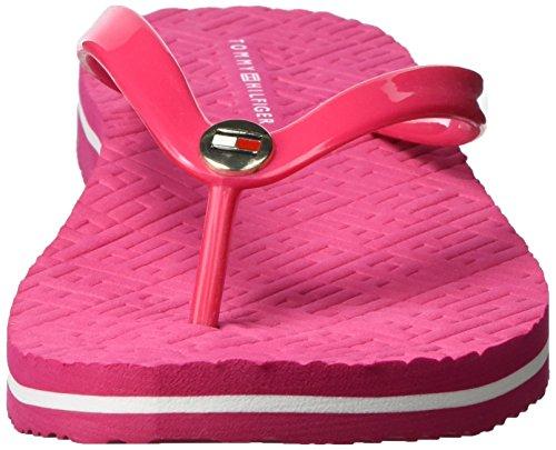 Tommy Hilfiger M1285ellie 8r, Sandalias de Punta Descubierta para Mujer Rosa (Bright Rose 623)