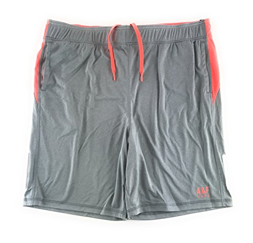 Abercrombie & Fitch Mens Athletic Shorts X-Large Light Gray (Abercrombie Clothing)