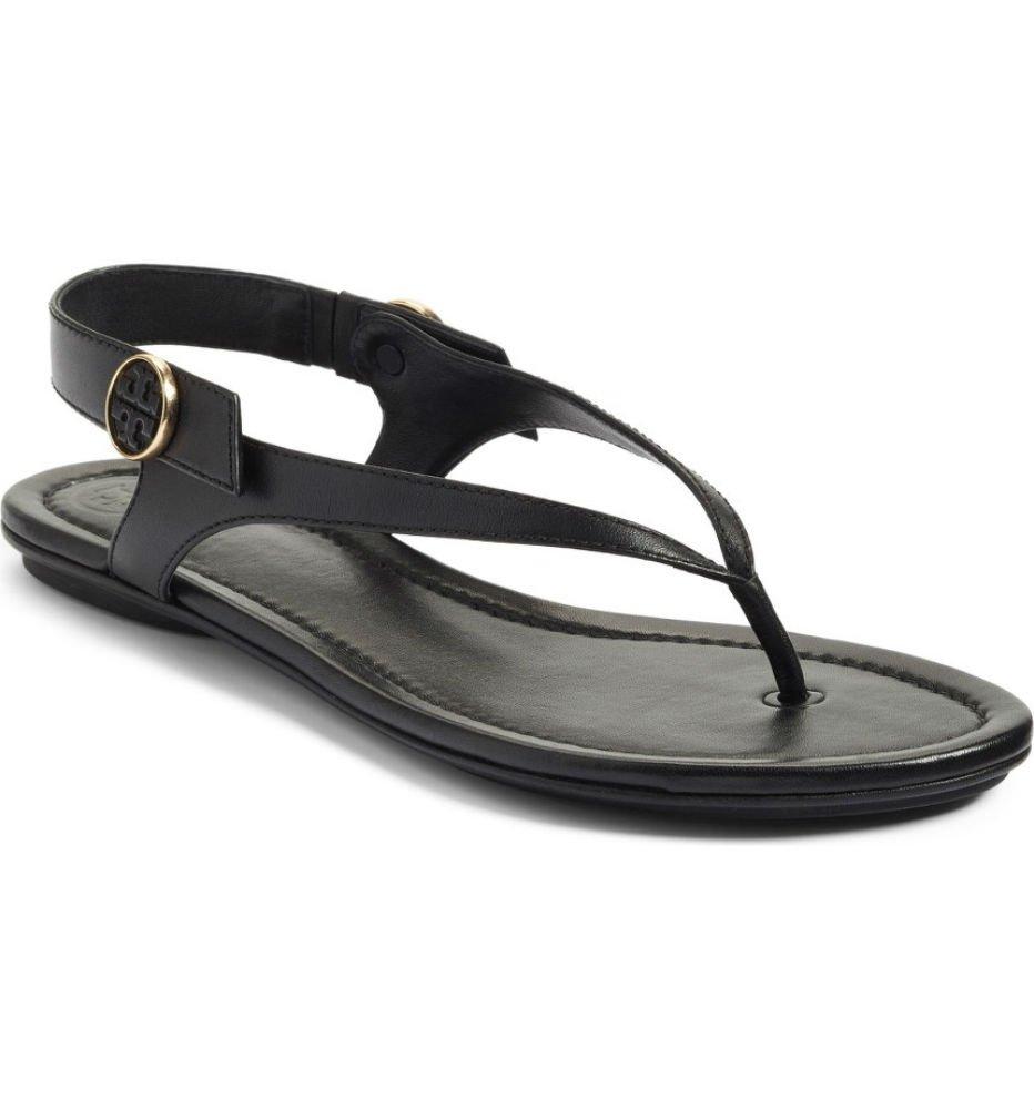 Tory Burch Minnie Leather Travel Sandal (9, Black) by Tory Burch