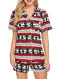 Ekouaer-Womens-Plus-Size-Pajama-Sleepwear-Cute-Night-PajamasChristmas-Small