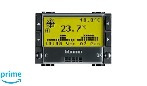 Bticino Livinglight L4451 - Ll-Cronotermo 2X1,5V 3M Antr: Amazon.es: Industria, empresas y ciencia
