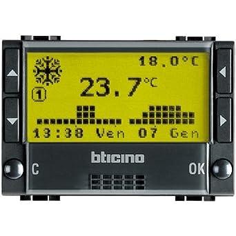 bticino L4451 Negro termoestato - Termostato (Negro, AA, 1,5 V,