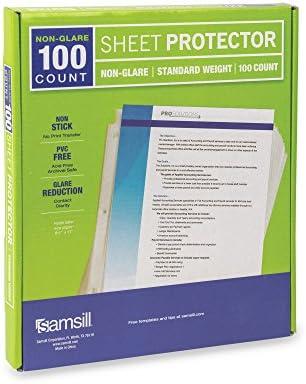 Samsill Non Glare Standard Protectors Reinforced