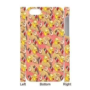 Funny Emoji CUSTOM 3D Hard Case for iPhone 5/5s LMc-30847 at LaiMc