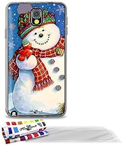 """Carcasa Flexible Ultra-Slim SAMSUNG GALAXY NOTE 3 / N9000 de exclusivo motivo [Navidad 1] [Gris] de MUZZANO  + 3 Pelliculas de Pantalla """"UltraClear"""" + ESTILETE y PAÑO MUZZANO REGALADOS - La Protección Antigolpes ULTIMA, ELEGANTE Y DURADERA para su SAMSUNG GALAXY NOTE 3 / N9000"""