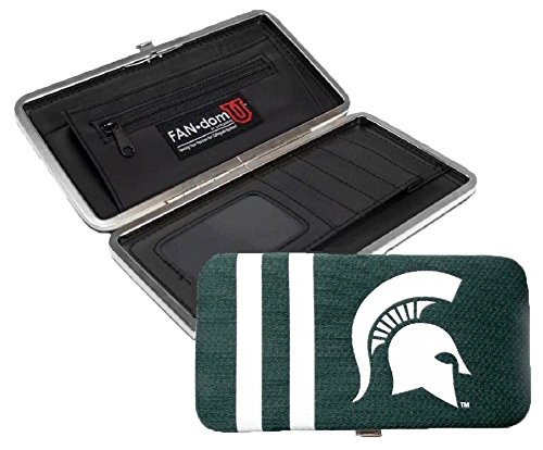 Michigan State Spartans Ladies Mesh Clam Shell Wallet NCAA (Michigan State Credit Card)