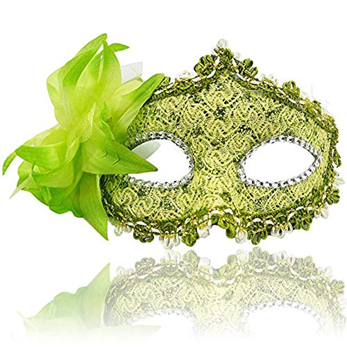 Masquerade Party Mask Venetian of Realistic Silicone Half Face Mask -