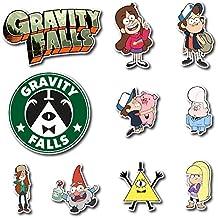 Gravity Falls Dipper and Mabel Pines Set Sticker Pack Cartoon Decal for Car Window, Bumper, Laptop, Skateboard, Wall, ETC. Set-073