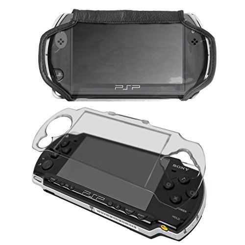 G-HUB® - Crystal Case & Faux Leather Cover Bundle for Sony PSP Psp 2000 Crystal Case