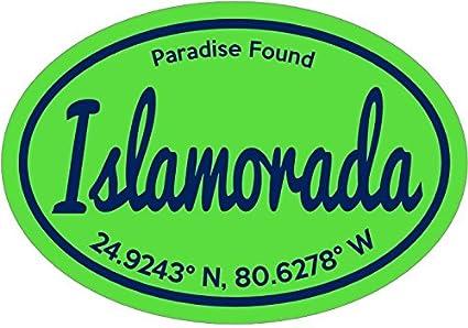 Florida decal green paradise found islamorada vinyl sticker florida keys bumper sticker florida