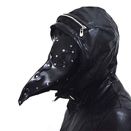steelsir Punk Gothic Plague Long Beak Mask Doctor Masquerade Adult Mens Womens Cosplay Bird Beak Mask Halloween