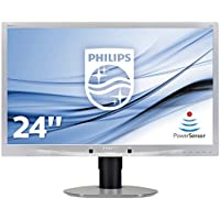 PHILIPS 241B4LPYCS/00 24 LED 1920x1080 VGA DVI 2xUSB Height Adjust Pivot Speakers Silver - (Monitors Monitors)