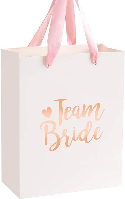 5 x Pink Team Bride Hen Party Bags Paper Bachelorette Party Favours Accessories