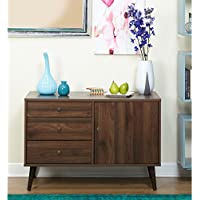 Simple Living Carroll Mid-Century Buffet, Walnut Finish