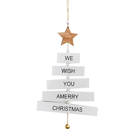 midress christmas ornaments christmas tree decor letter pendant home wooden hanging christmas decoration for christmas party - Christmas Letter Decorations